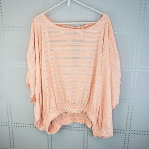 Free People Adele Coral Top